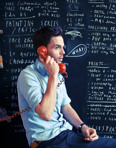 Oliver Jeffers by Malcolm Brown at The Invisible Dog