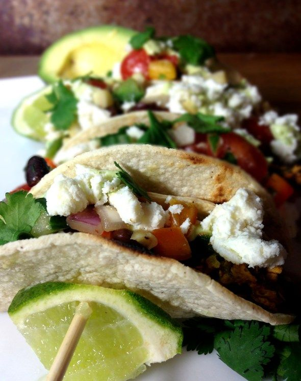... Cactus (Nopalitos) Tacos with Corn & Black Bean Salsa & Avocado C...