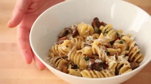 Fusilli with Bacon, Onions, and Mushrooms - Martha Stewart Recipes