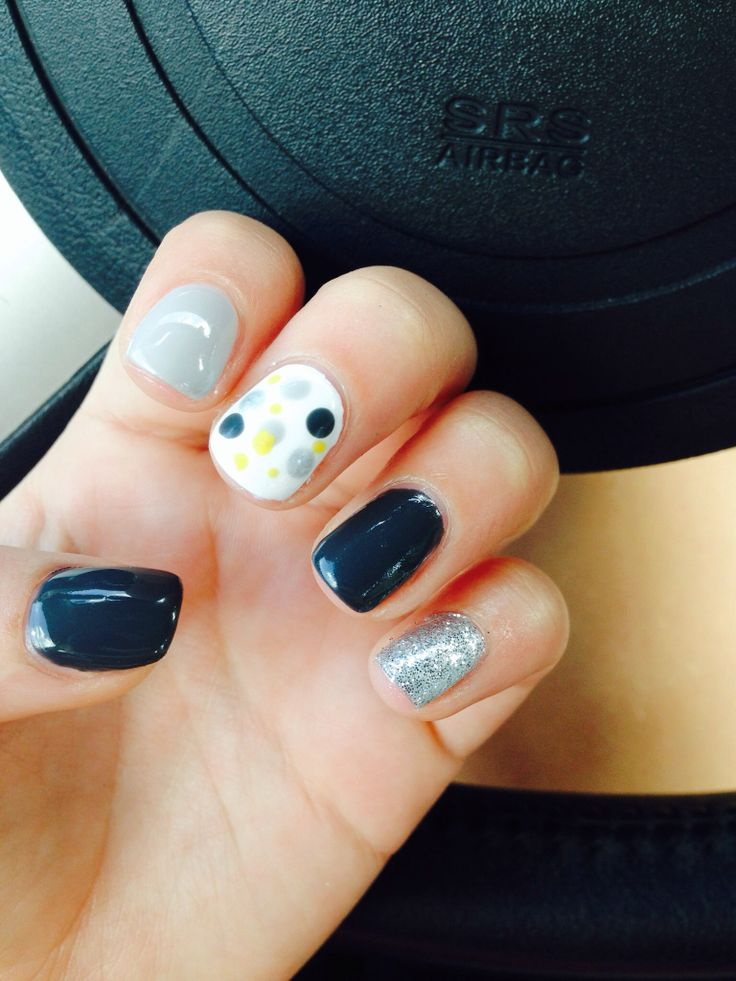 Shellac nail ideas | raining nails | Pinterest