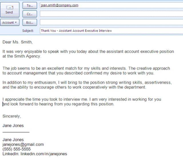 Job Application Thank You Letter Employer