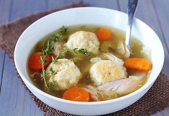 Crock Pot Chicken Matzo Ball Soup   Taste for Adventure - Unusual ...