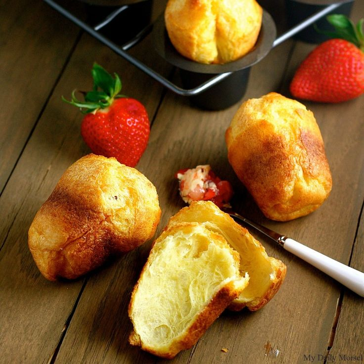Popovers with Strawberry Butter, from My Daily Morsel