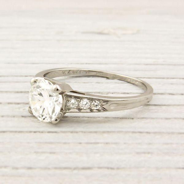 Vintage Tiffany Diamond Ring Wedding Ideas