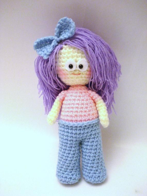 Crochet Patterns Dolls : Crochet Girl Pattern, Amigurumi Doll Crocheted Toys Pinterest
