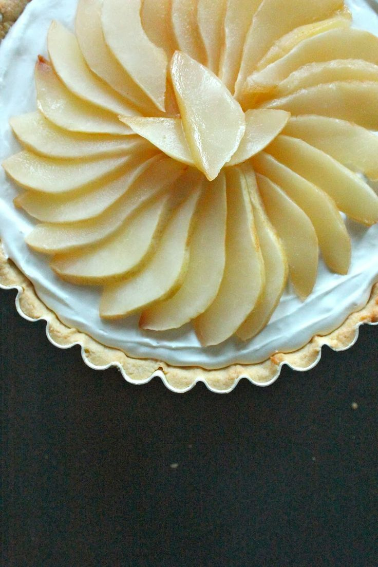 Honey Roasted Pear and Goat Cheese Tart by CareyOnLovely http://www ...