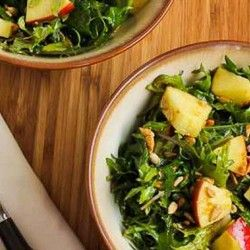 for Raw Baby Kale Salad with Apples, Sunflower Seeds, and Lemon-Dijon ...