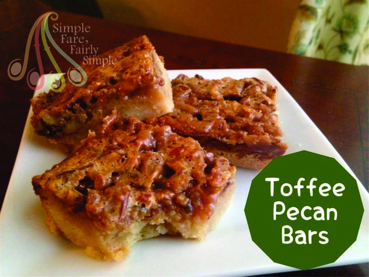 Toffee Pecan Bars | SFFS on Facebook | Pinterest