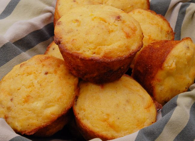 Bacon Cheddar Corn Muffins | For the Home | Pinterest