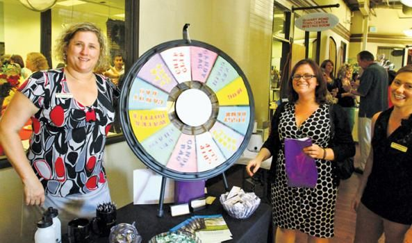 Spinning the Prize Wheel During the Roseville Chamber Event