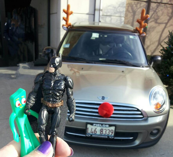 Batman & Gumby check out new rides: Rudolph the Red Nose Mini @Chicago ...