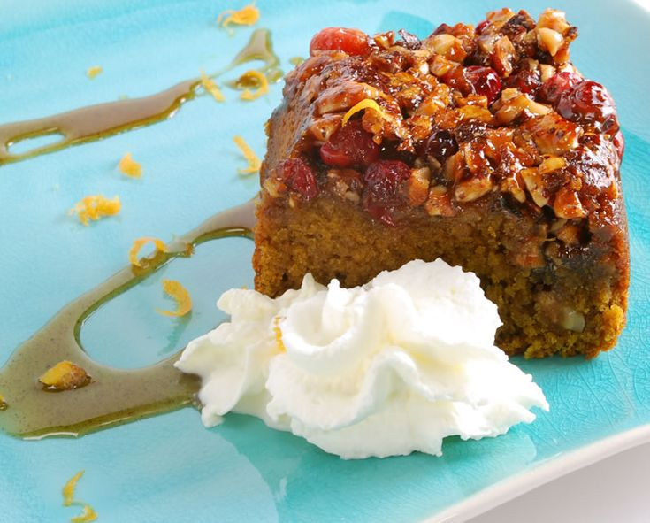 Spiced Pumpkin Sour Cream Upside-Down Coffee Cake (I've made the base ...