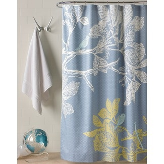 Blue Yellow White Shower Curtain Color Blue Yellow Pinterest
