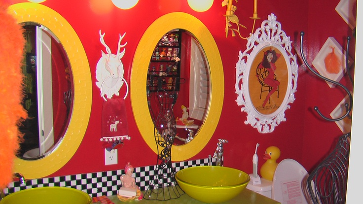 Red Yellow Bathroom Red And Yellow Pinterest