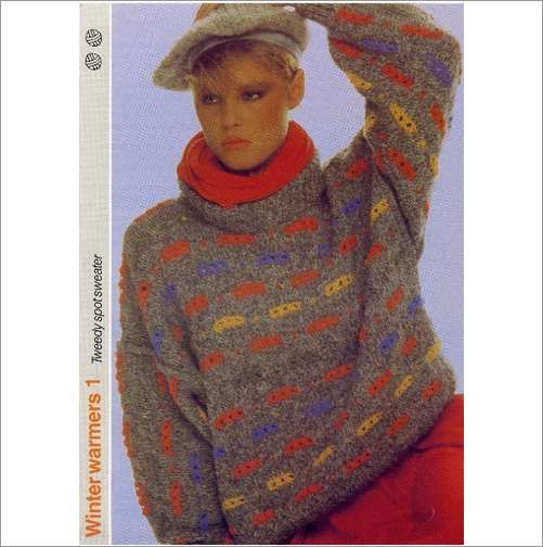 Ladies Sweater or jumper double knitting pattern womens DK patterns