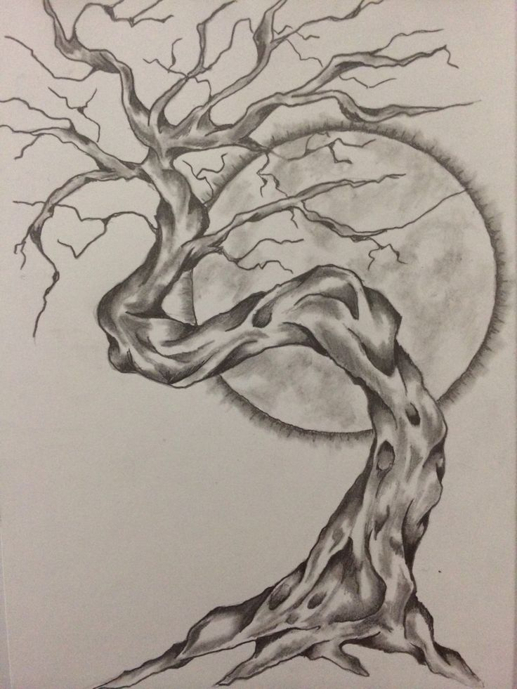 tree sketch by ranz obsession