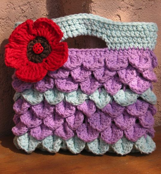 Crochet Girl Bag : Crochet pattern girls bag Crochet bags and purses Pinterest