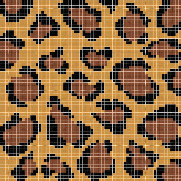 Leopard Knitting Pattern : leopard print stitch cross stitch love! Pinterest
