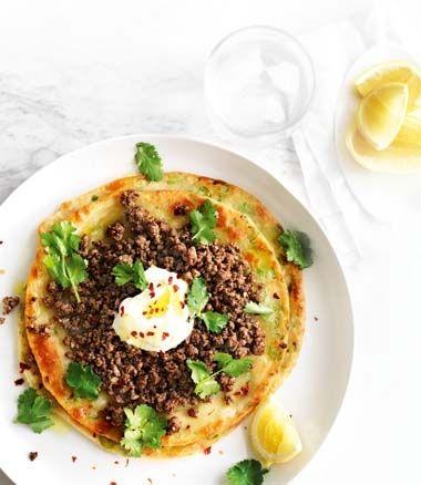 Spicy-Beef Flatbread with Yoghurt & Chilli recipe | Food | In Season ...