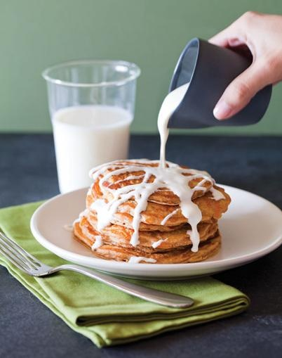 Delicious Carrot Cake Pancakes | For the Just Plain Hungry | Pinterest