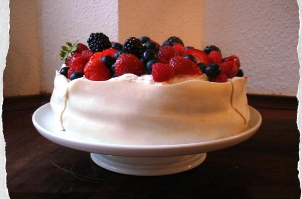 Marzipan and raspberry cream layered Birthday Cake