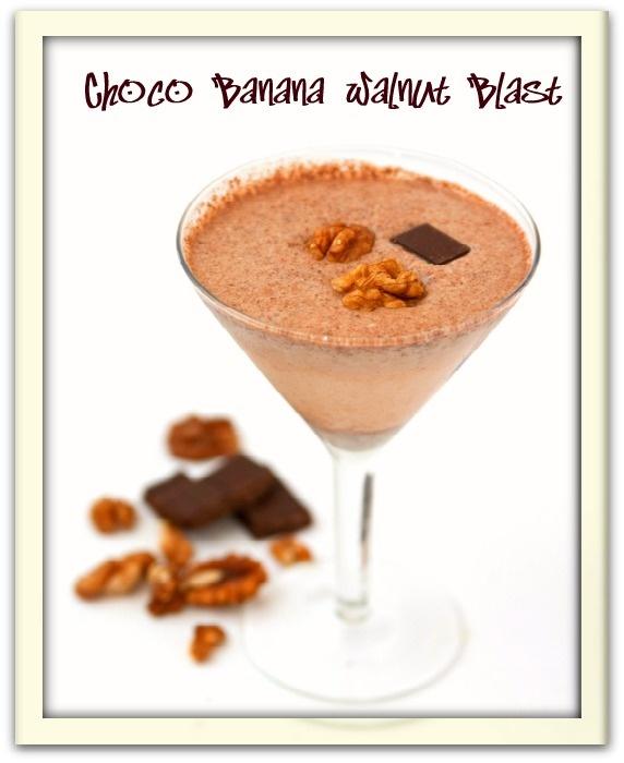 Choco Banana Walnut Power Smoothie !! | Thirst Quenchers | Pinterest
