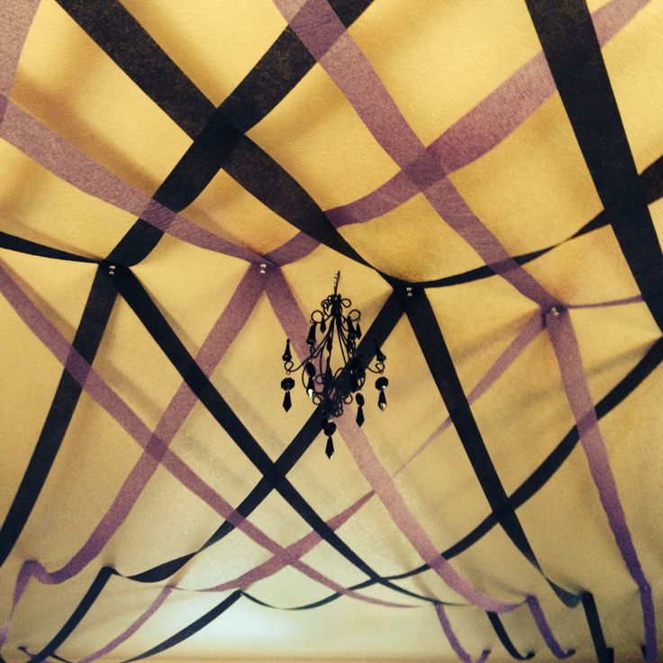 Masquerade decor my 30th birthday pinterest for Ceiling streamers