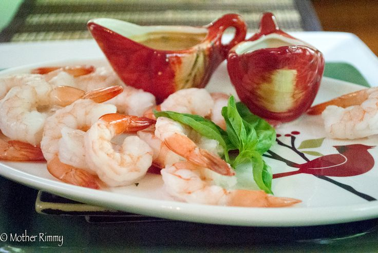 Appetizer Recipe: Shrimp with Spicy Chili Garlic Peanut Sauce - Mother ...