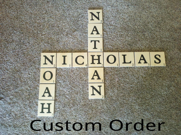 Extra Large Giant Scrabble Pieces Tiles Wall Hanging Art