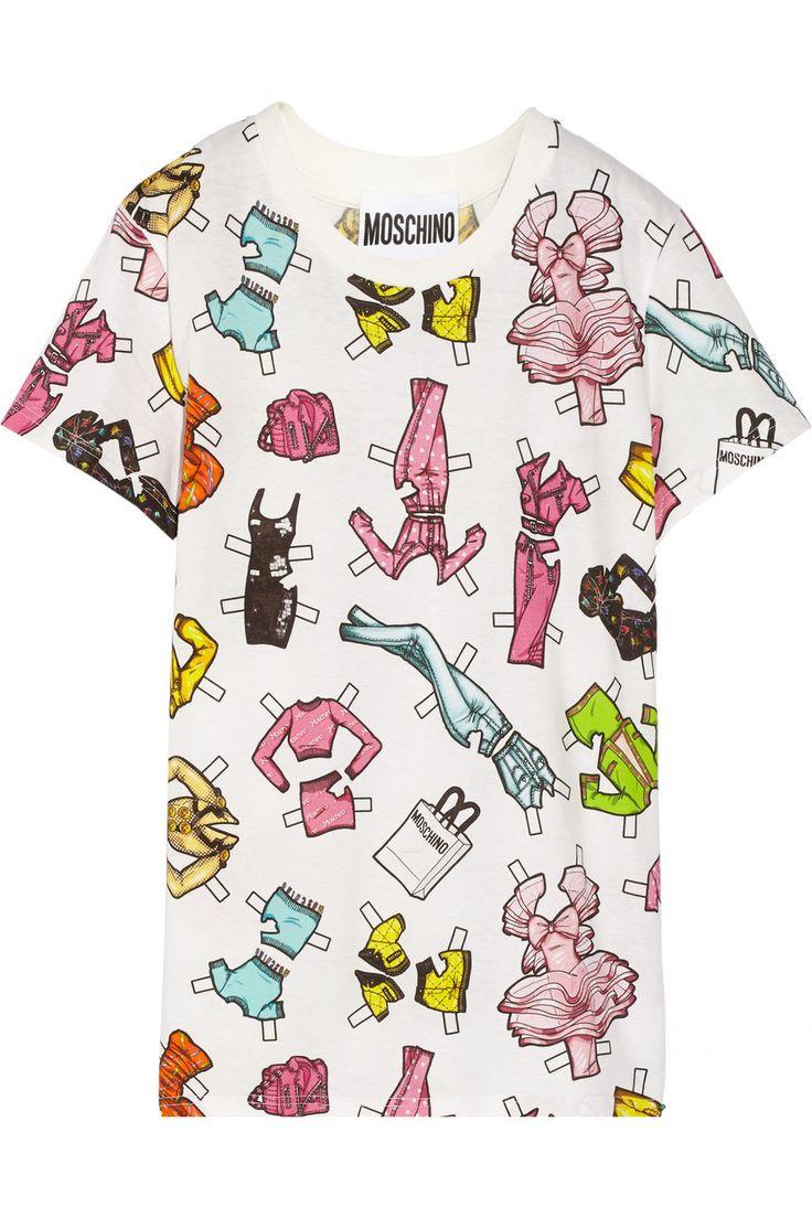 MoschinoT-shirt en jersey de coton imprimé
