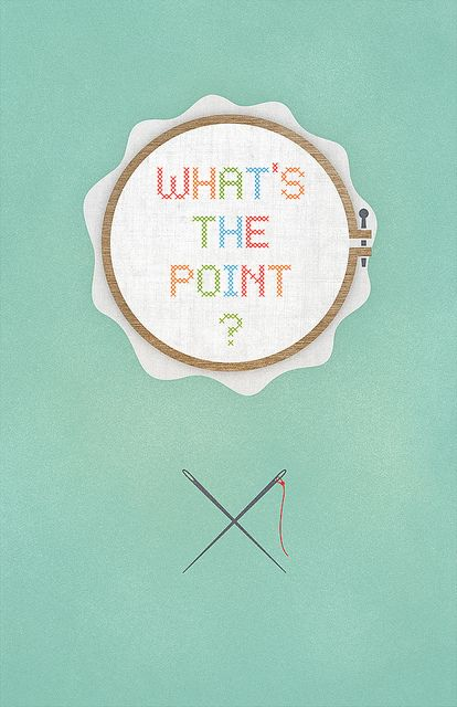 Whats the point needle point of course