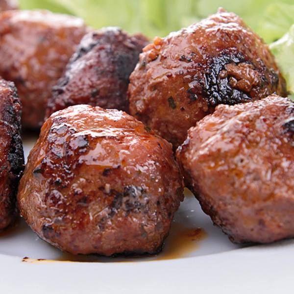 Teriyaki Grilled Meatballs | Unhealthy food | Pinterest