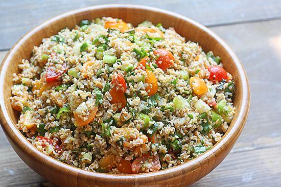 tabbouleh. (use quinoa for Gluten Free)
