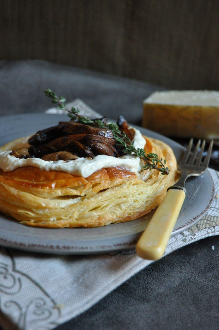 Mushroom tart with parmesan cream | Recipes I want | Pinterest