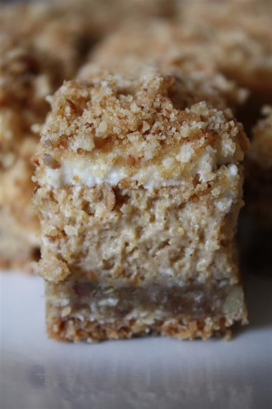 Pumpkin Cheesecake Crumble Squares by Nutmeg Nanny