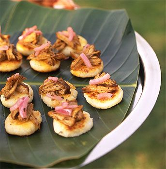 Arepas with Pulled Pork and Pickled Onion | Recipe