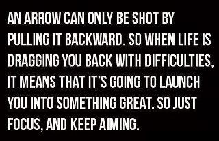 Keep aiming....
