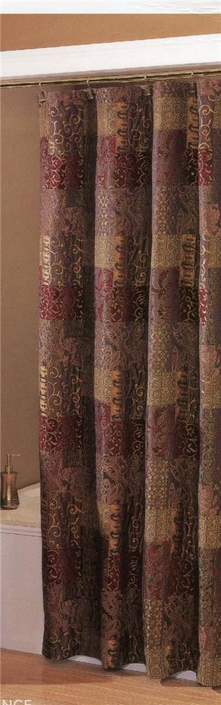 Shower Curtain Croscill Opulence Brown Burgundy Gold