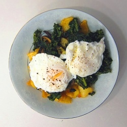 Roasted Sweet Potato and Kale with Poached Eggs {recipe} – Potato by ...