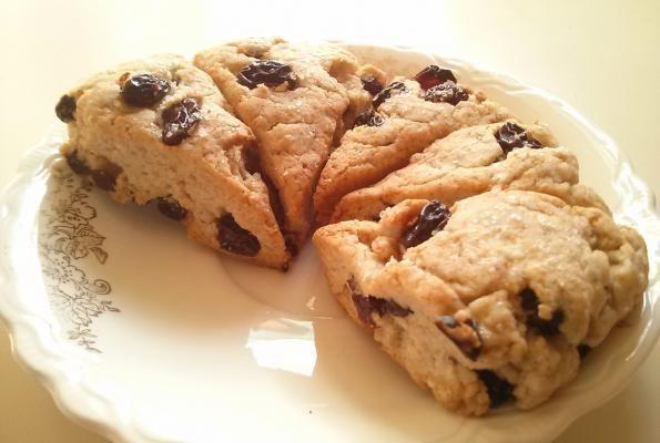 Old School' Raisin Scones (gluten-free, soy-free, nut-free)!