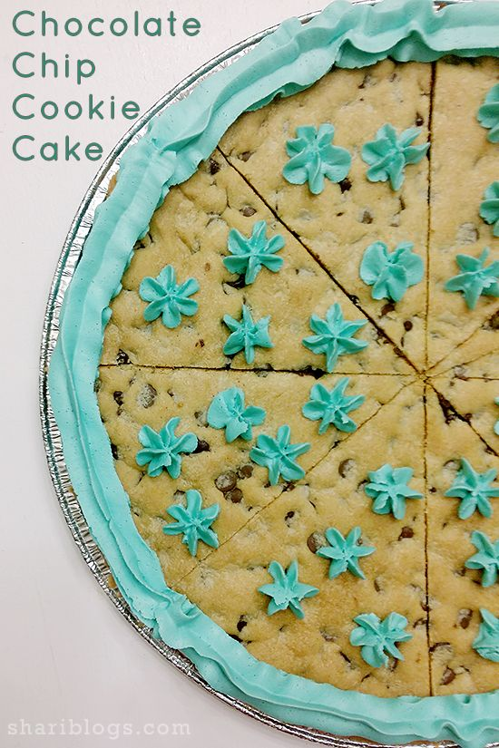 Chocolate Chip Cookie Cake | www.shariblogs.com