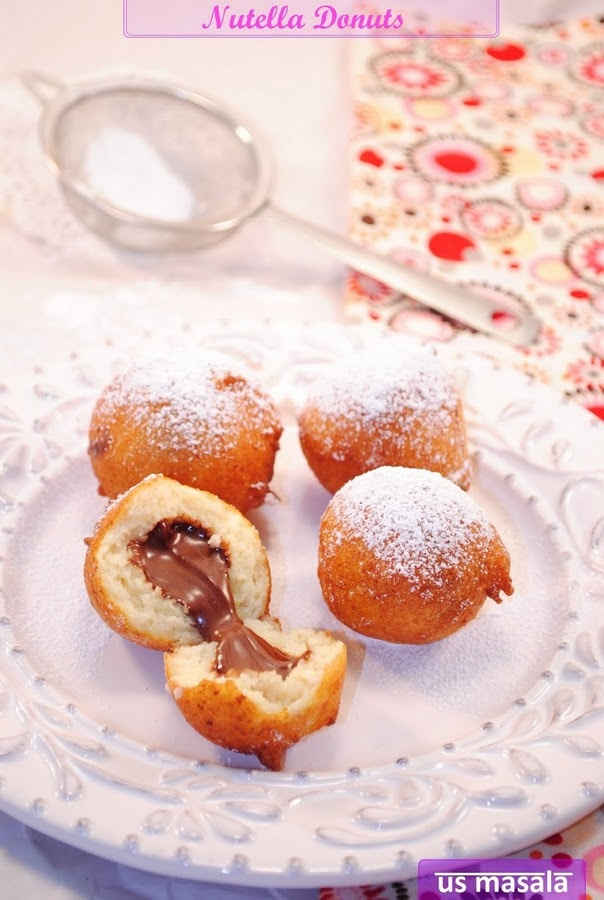 Nutella doughnuts | Desserts | Pinterest