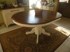 Oak Kitchen Table Refinish Image DIY Home Pinterest