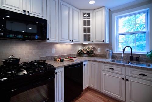 light with black appliances  Kitchen Remodel  Pinterest