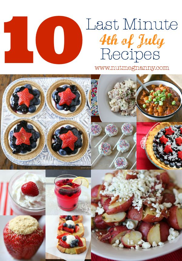 last minute 4th of july recipes