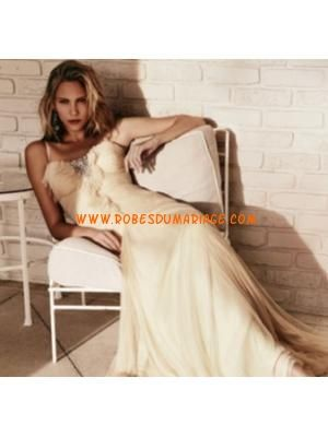 Jenny Packham belle robe de mariée glamour longue champagne...