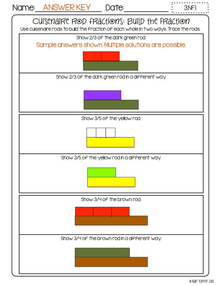 cuisenaire rods worksheet : Kid Stuff : Pinterest
