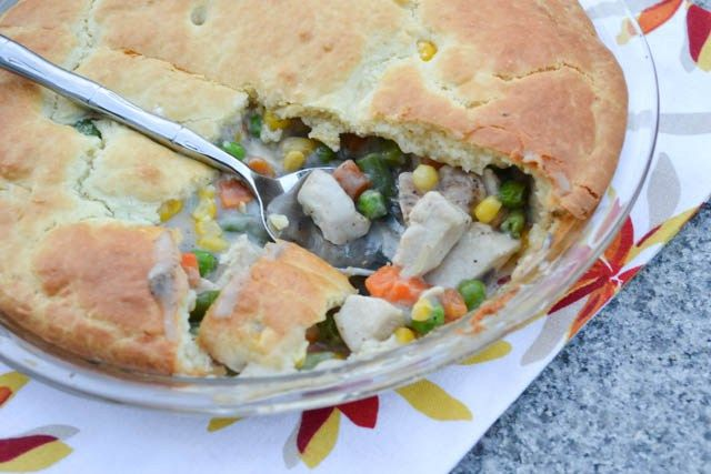 Impossibly Easy Chicken Pot Pie-1 | Bon Appétit | Pinterest