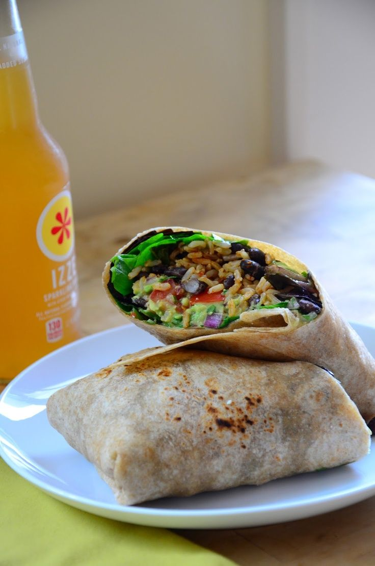 Guacamole and black bean burritos. | Food and Drinks around the world ...