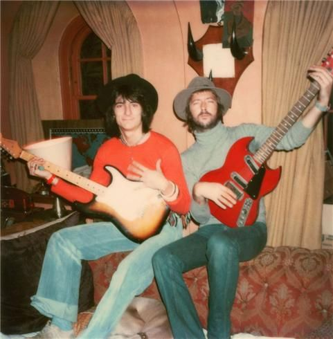 Ron Wood and Eric Clapton